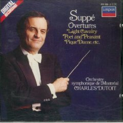 suppe overtures - orchestre symphonique de montreal with charles dutoit CD 1985 decca london mint