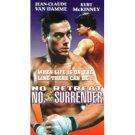 no retreat no surrender starring van damme mckinney VHS 1994 starmaker anchor bay mint
