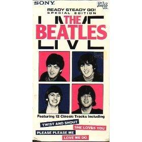 the beatles - ready steady go special edition VHS 1985 dave clark london ltd EMI B&W used