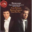 mendelssohn piano concertos nos. 1 & 2 - edelmann & flor CD 1989 RCA mint