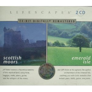 lifescapes - Scottish Moors & Emerald Isle CD 2-disc box 2000 compass used mint