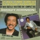 smokey robinson - being with you & where there's smoke CD 1986 motown tamla used mint
