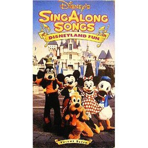 disney's singalong songs - disneyland fun VHS 29 mins used