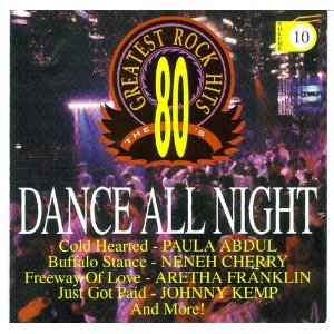 80's greatest rock hits - dance all night CD 1994 priority used mint