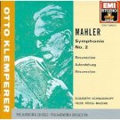 mahler symphonie no.2 resurrection - klemperer and philharmonia chorus & orchestra CD 1989 EMI mint