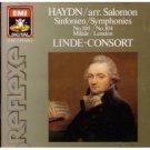 Haydn Symphonies Nos. 104 & 100 - linde-consort CD 1987 EMI japan used mint