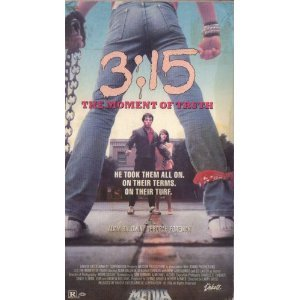 3:15 the moment of truth - Adam Baldwin Deborah Foreman VHS 1986 media 86 minutes used