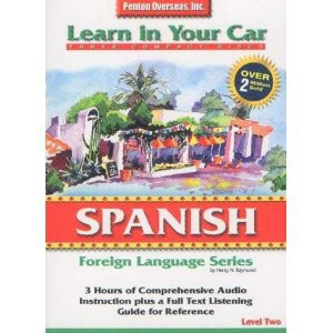 spanish level two - learn in your car CD 3-discs 1997 penton overseas used mint