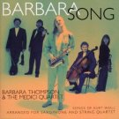 barbara thompson & medici quartet - barbara song - songs of kurt weill CD 1995 virgin used mint