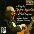 legendary andres segovia in an all-bach program CD 1987 MCA used mint