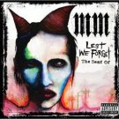 best of marilyn manson - lest we forget CD + DVD 2004 interscope used mint