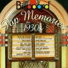 billboard pop memories the 1930s - various artists CD 1994 rhino sued mint