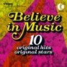 believe in music - various artists CD 1996 k-tel 10 tracks used mint