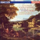 c.p.e. bach 4 sonatas for flute and harpsichord - adorjan + dreyfus CD 1986 nippon columbia denon