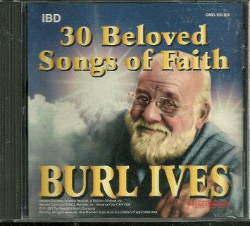 burl ives - 30 beloved songs of faith CD 1995 beautiful music used mint