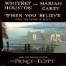 whitney houston & mariah carey - when you believe from the prince of egypt CD dreamworks 2 tracks