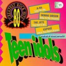 80's greatest rock hits vol. 11 teen idols - various artists CD 1994 priority 9 tracks used mint