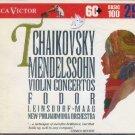 Tchaikovsky / Mendelssohn - Violin Concertos RCA Victor Basic 100 Vol. 29 CD 1993 used mint