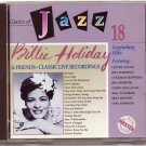 billy holiday & friends - classic live recordings CD 1990 jci telstar 18 tracks used mint