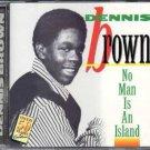 dennis brown - no man is an island CD studio one 12 tracks used mint