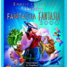 Fantasia + Fantasia 2000 bluray & DVD 4-disc collection 2010 disney used