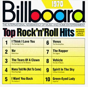 billboard top rock n roll hits 1970 - various artists CD 1989 rhino 10 tracks used mint