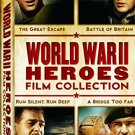 world war II heroes film collection DVD 4-disc set 2007 MGM used mint