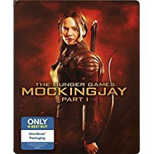 hunger games: mockingjay part I bluray + DVD steelbook 2015 lionsgate used mint