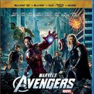 marvel's avengers bluray 3D + bluray + DVD + digital copy + music 2012 4-discs disney used