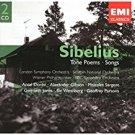 j. sibelius - tone poems + songs CD 2-discs 2004 EMI classics used mint