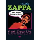 frank zappa live - does humor belong in music? DVD 2003 EMI pumpko used mint