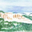 009 PRINT - Snowy Big Horn Cliffs (Original not available)
