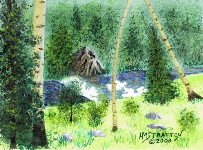 015 PRINT - Big Horn Mountain Stream (Original not available)