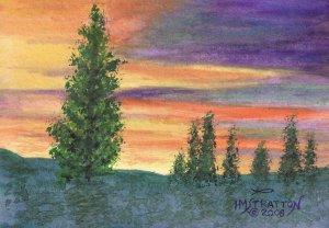 018 PRINT - Big Horn Sunset (Original not available)