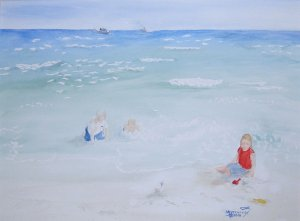 047 Playing in the Gulf of Mexico - SOLD