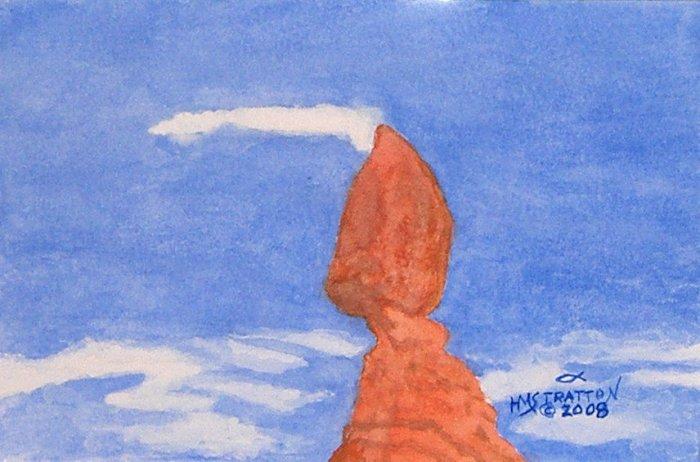 058 Balanced Rock, framed