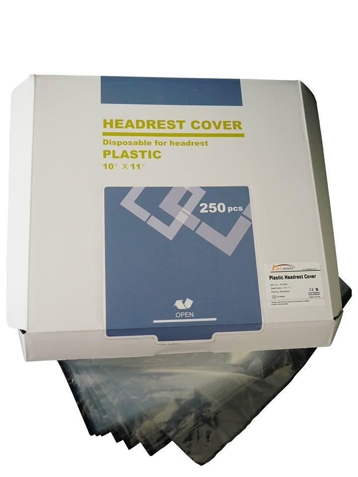 "Headrest Cover 10"" x 11"" - Prefolded in Dispenser Box - 250 Pieces"