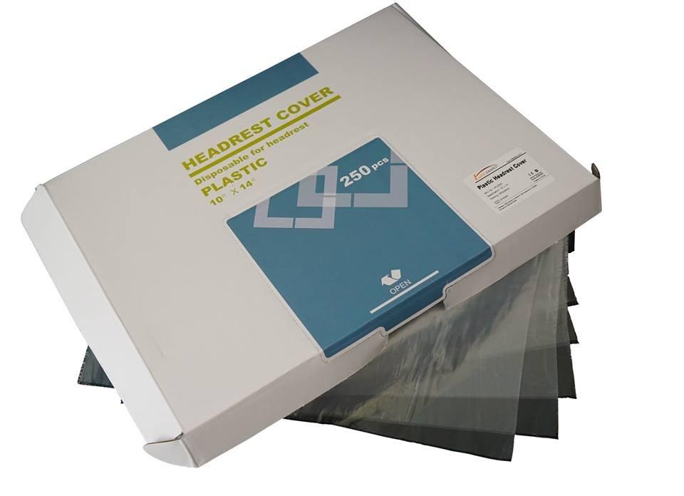 "Headrest Cover 10"" x 14"" - Prefolded in Dispenser Box - 250 Pieces"