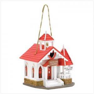 Wedding Chapel Birdhouse - 38276