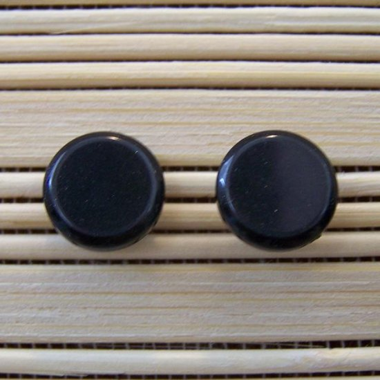 plain black stud earrings