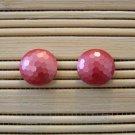rose faceted stud earrings