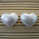 pearly hearts stud earrings