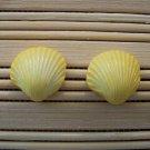 shell shaped yellow stud earrings small