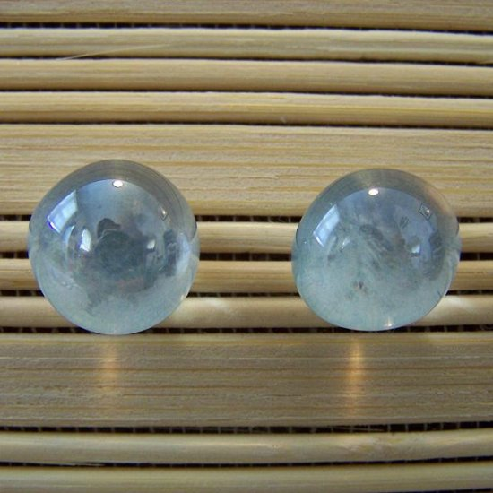 glass with silver stud earrings