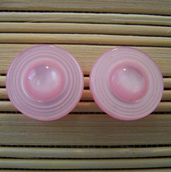 light pink big circle stud earrings
