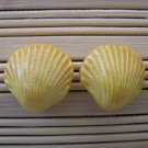 shell shaped gold earrings large
