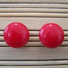candy red stud earrings