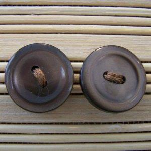 brown plain button stud earrings