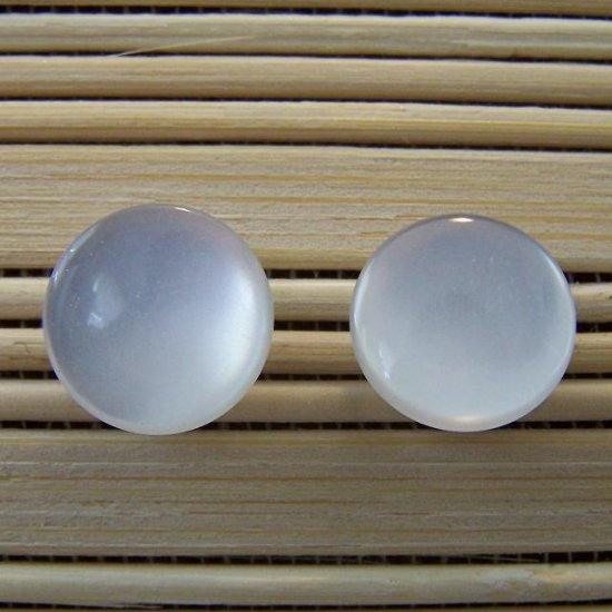 white plain stud earrings