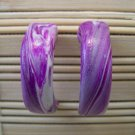 clay purple hoop earrings